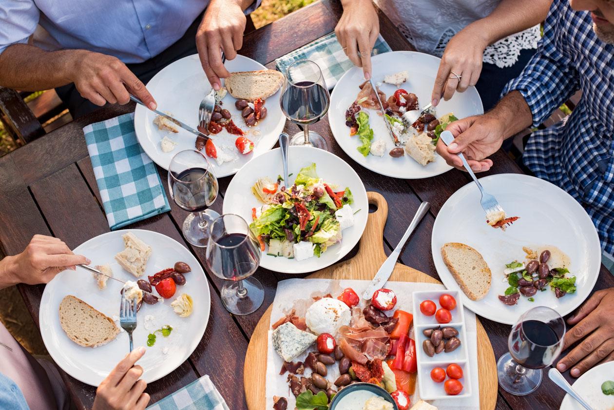 Dining together-